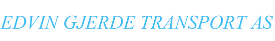 Edvin Gjerde Transport AS - logo